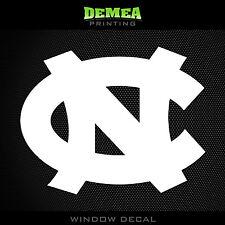 "UNC - North Carolina Tar Heels - NCAA - White Vinyl Sticker Decal 5"""