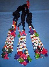 "Tassels THREE Afghan Tribal Kuchi Belly Dancing 12"" Various colors"