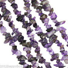 Lots 100PCS Purple Semi Precious GEMSTONE Crystal Tumble CHIP BEADS 5-9mm