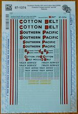 Microscale Decal HO #87-1374 Southern Pacific/Cotton Belt (for:Fruehauf Trailers