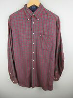 Tommy Hilfiger Mens Shirt Size M Long Sleeve Button Up Regular Fit Plaid Vintage