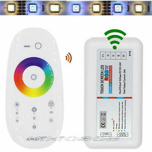 2.4G Wireless Remote Touch LED Strip Light Controller RGB RGBW Lamp Control Box