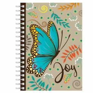 Joy Butterfly A5 Christian Notebook Journal Ruled Bible Verse Christian Gift