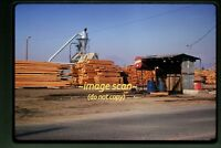 1974 Scene at Cabax Mills Oregon log, Original Slide c8a