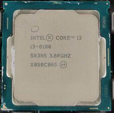 Intel SR3N5 Core i3-8100 3.6GHz LGA1151 Quad-Core CPU Processor