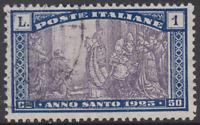 Italy Regno - 1924 Anno Santo - Sassone n. 173 used  cv 60$