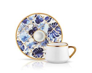 Koleksiyon Amazon Blue Turkish coffee set 6 pieces