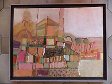 Torcello Italie huile sur bois oil on wood Italy Italia City View