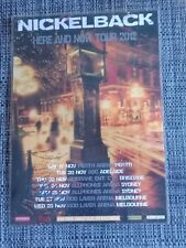 NICKELBACK - 2012 Australia Tour - Chad Kroeger SIGNED AUTOGRAPHED Poster