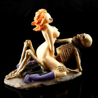 Aquarium Decor Fish Tank Ornament Halloween Crafts Skeleton Woman Resin Figurine