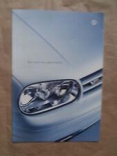VW Golf4 V6 4Motion Typ1J1 Juli 1999 Brochure Katalog Rarität