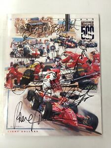 1994 Indy 500 auto racing program MANY AUTOGRAPHS Boesel Andretti Rahal Herta