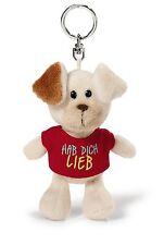 """40156 NICI Bean Bag Schlüsselanhänger Hund mit T-Shirt """"Hab dich lieb"""""""