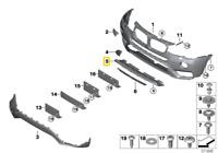 Neuf Véritable BMW X4 F26 Avant X-Line Pare-Choc Underride Excellent Protection