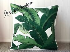 Tommy Bahama Outdoor Green & White Swaying Palm Leaf 45cm Cushion Cover + Piping