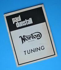 Original Paul Dunstall Norton P11 G15 Commando Motorcycle Tuning Manual Book