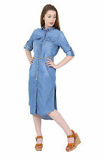Long Sleeve Casual Midi Shirt Dresses for Women