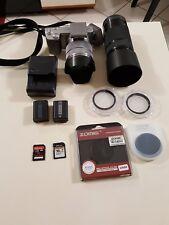 Sony Alpha NEX-5 14.2MP Digital Camera - Silver, Plus accessories
