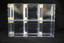 6 X Stackable Mini Display Case Transparent Clear for Lego Minifigures Showcase