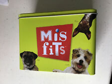 Misfits Dog Puppy Food Storage Tin Pug Jack Russell Terrier