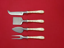 Repousse by Kirk Sterling Silver Cheese Serving Set 4 Piece HHWS  Custom