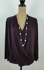MM Lafleur Womens XL Denevue Wrap Top Blackberry New