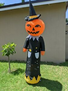7 FT HALLOWEEN Inflatable flashing pumpkin Witch Hat AIRBLOWN INFLATABLE YARD