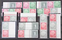 Bundesrepublik Heuss liegendes WZ 13 verschiedene postfrische Zusammendrucke