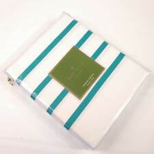 Kate Spade New York Harbour Stripe Shower Curtain Blue Teal & White 72 x 72 $50