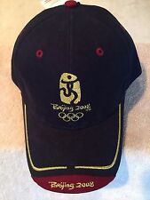 2008 Beijing Olympics UNIQUE Cap Hat Blue/Red/Black Gold Embroidered 5 Available