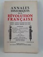 Revista Anales Históricos de La Revolution Francaise Oct - Dic 1964 N º 178
