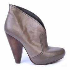 ASH Ankle Boots Taupe Leather Size 37 / UK 4 DL 110