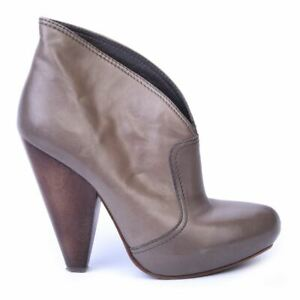 ASH Bottines Cuir Taupe Taille 37 /UK 4 DL 110