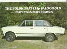 POLSKI FIAT 125p SALOON GLS CAR SALES 'BROCHURE'/SHEET 1980 1981