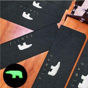 Carpet Stair Mats Treads Non-Slip Polyester Rugs for Indoor Luminous Bear Carpet