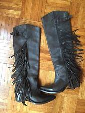 ASH Buffalo Fringe Boots Leather western cowboy Sz US 7.5 ORG. $375+tax