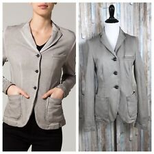 Liebeskind 36 S Gray Jersey Ponte Stretch Knit Felpa Blazer Jacket Career Work