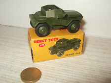 Vintage Dinky Toys 673 Scout Car and Original Dinky Box.