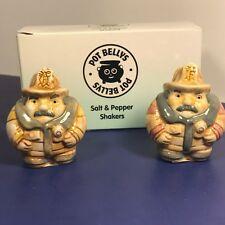 Harmony Kingdom salt pepper shakers figurine pot bellys Firemen fire rescue Nib