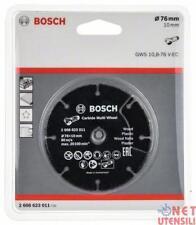 BOSCH 2608623011 DISCO PER LEGNO PLASTICA MULTIUSO D. 76 mm PER GWS 10,8 GWS 12V