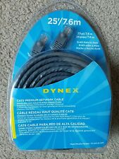 Dynex CAT6 RJ45 male to male Premium Network Cable - 25'/7.6m