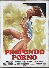 PROFONDO PORNO MANIFESTO CINEMA FILM ADULT XXX EROTICO 1979 SEX MOVIE POSTER 2F