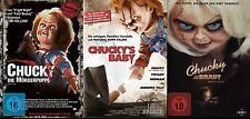 3er Chucky colección LA MUÑECA ASESINA Seine Braut Bebé Culto DVD Edición