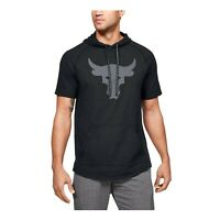 Under Armour Men's Project Rock Charged Cotton Short Sleeve Hoodie 1351525-001