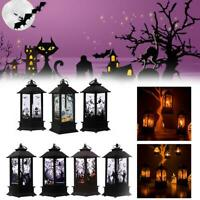 Halloween Lantern Pumpkin Decorative Decor LED Lights Home Party Candle Prop