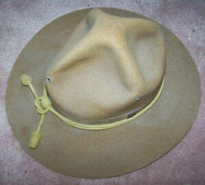 PRE-WW1 CAMPAIGN HAT, MONTANA PEAK SMOKEY BEAR HAT, U.S. ISSUE *NICE*