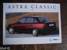 Opel Astra Classic GL (4-Türer) Prospekt / Brochure, PL, ca. 1998, selten