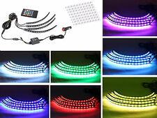 Multi-Color Car Interior Neon LED Light Strip w/ Sound Active Wireless Remote