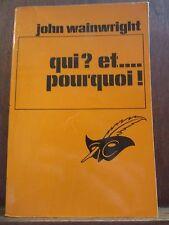 John Wainwright: Qui? et...pourquoi!/ Le Masque N°1622, Champs-Elysées