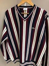 Mens Lacoste Vtg Devanlay Label Striped Wool Mix Jumper Sweater Size 7 (XXL)